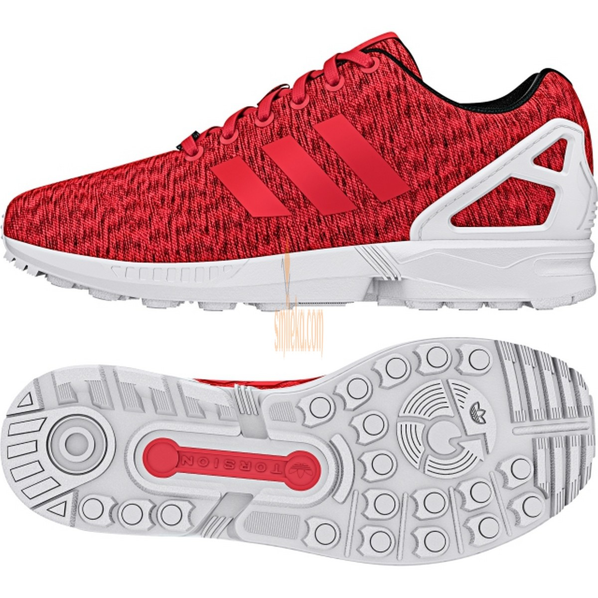 56fe7b462a4ca adidas zx flux shoes core black shock red white
